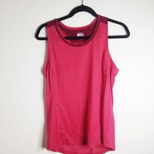 REI Coop pink athletic tank top